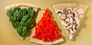 پیتزای گیاهی با قارچ