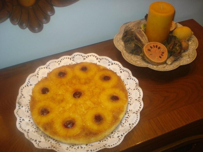 کیک آناناس