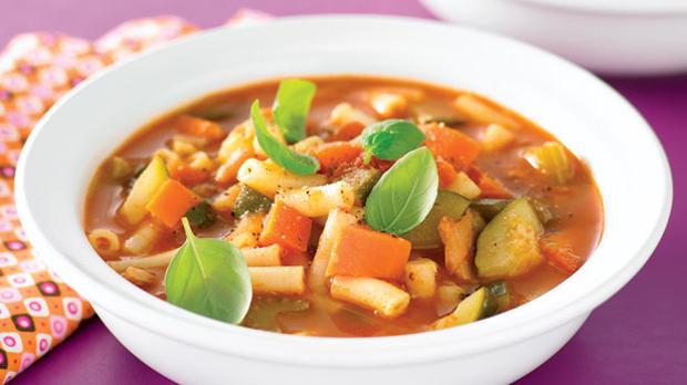 خوراک لوبیا و سبزیجات